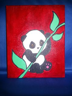 Jungle Babies Baby Panda Painting by ArtbyKeyla on Etsy, $10.00