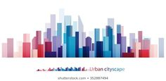 Vector Design Colorful Building and City, Urban cityscape, Abstract of city image Design Vector, Graphic Design, Dp Architects, Building Logo, Colourful Buildings, City Illustration, City Scene, City Art, Portfolio Design