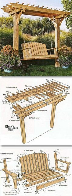 of Woodworking Diy Projects - Plans of Woodworking Diy Projects - Arbor Swing Plans - Outdoor Furniture Plans Projects Get A Lifetime Of Project Ideas Inspiration! Get A Lifetime Of Project Ideas & Inspiration! Diy Projects Plans, Backyard Projects, Woodworking Projects Diy, Diy Wood Projects, Outdoor Projects, Woodworking Plans, Project Ideas, Woodworking Furniture, Woodworking Classes