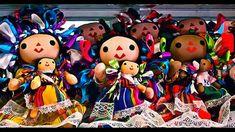 Muñecas de trapo elaboradas por indígenas mexicanas