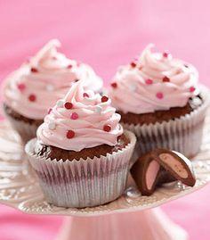 Funffeti Raspberry Brownie Valentine Cupcakes