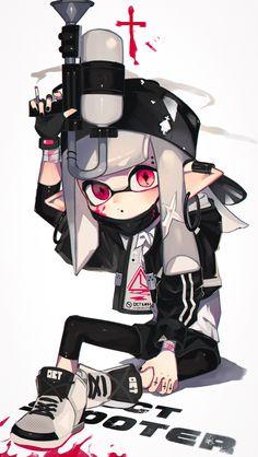 Splatoon 2 art, nintendo splatoon, wii u, video game rooms, kid icarus Splatoon Memes, Nintendo Splatoon, Splatoon 2 Art, Kid Icarus, Nintendo Characters, Fan Art, Manga Games, Wii U, Crossover