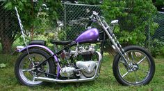 1958 pre unit 750 5 speed chopper