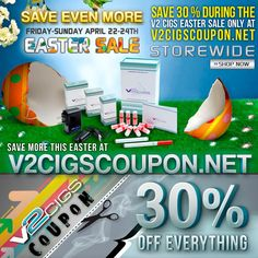 Now you can automatically save 10% on fantastic V2 Cigs with this great coupon redeemable at the highest rated electronic cigarette supplier. Just stop by the V2 Cigs web site to get an instant discount with this fantastic coupon code. V2 Cigs will give you a discount of 10 to 15%. You can get 10% off supplies and equipment and a whopping 15% off of a new starter kit! Visit http://v2cigarettes.blog.com/v2-cigs-coupon-code/ for more information