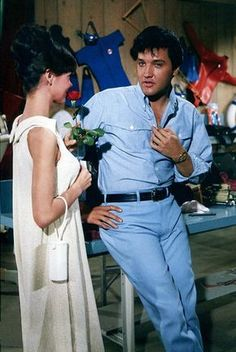 Elvis and Shelly Fabares - Clambake. I met Shelly Fabares the day after I happened to catch this movie on tv and asked her about working with Elvis. She smiled and shared that wonderful experience with me. Great fun!