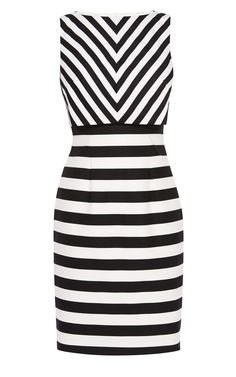 Karen Millen Chevron Stripe Dress