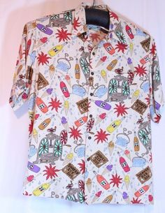 Reyn Spooner Size XXL 2XL Dietrich Varez Hawaiian Loud Shirt Foodie Shaved Ice #ReynSpooner #Hawaiian
