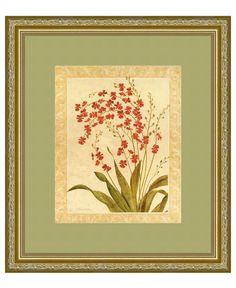 Amanti Art Red Begonias Framed Art Print by Gloria Eriksen