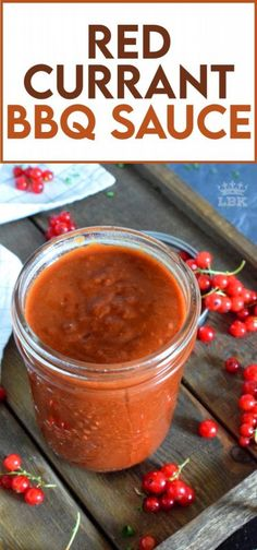 Making your own barbecue sauce couldn't be easier!  Red Currant BBQ Sauce is a great example - all ingredients in the pan at once and simmer until it's all cooked down and thickened. #barbecue #BBQ #sauce #red #currants #berries