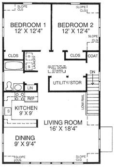 Garage Apartment Plans 2 Bedroom garage apartment plan 64817 | total living area: 1068 sq. ft., 2