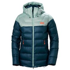 This extremely soft down jacket offers premium warmth combining Primaloft Silver insulation with European goose down This technical down jacket is Dark Teal, Teal Blue, Ladies Down Jackets, Hiking Jacket, Warm In The Winter, Jacket Brands, Helly Hansen, Sports Jacket, Jacket Style