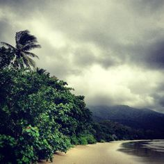 Port Douglas, Australia: Cape Tribulation beach - spectacular even on a stormy day! Ayers Rock Australia, Queensland Australia, Places Around The World, Around The Worlds, Great Places, Beautiful Places, Places To Travel, Places To Visit, Daintree Rainforest