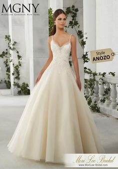 Florence A tulle ball gown with crystal beaded detailing and straps with a beautifully embroidered bodice 51202