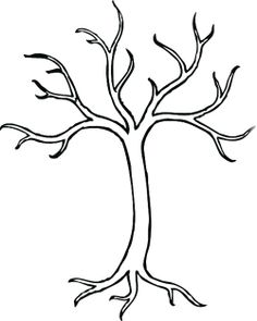 Bare Tree Without Leaves Coloring Page