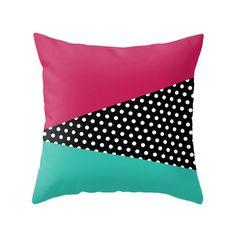 3 Colors Options Geometrical Pattern Pillows, Decorative Throw Pillow, Zipper Pillow Cover, Geometric Design Cushion, Home Decor, Pop Art