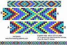 Beaded Hat Band Patterns | Gallery Bead Pattern Im… beaded-hatband-…