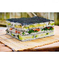 Chorizo cake fast and delicious - Clean Eating Snacks Sushi Sandwich, Sushi Burger, My Sushi, Sandwich Cake, Sushi Rice Recipes, Sushi Platter, Sushi Bowl, Veggie Sushi, Recipes