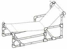 Furniture, Recycle PVC Pipe Furniture For Chaise Lounge Chair Plan ~ PVC Pipe Furniture Ideas