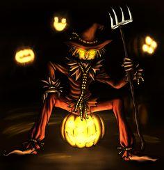 Halloween Scarecrow by SanyokVAMPIRE