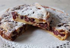 Cseresznyés clafoutis Healthy Desserts, Banana Bread, Snacks, Baking, Eat, Recipes, Food, Drink, France