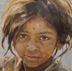 """Mumbai Girl"" - Original Fine Art for Sale - © by Taryn Day"