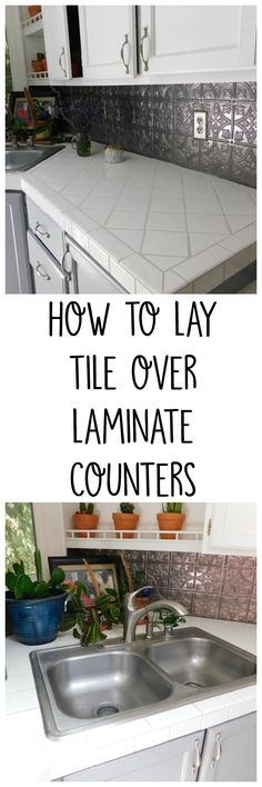 Tile Over Laminate Counters. How to Adhere the Tile