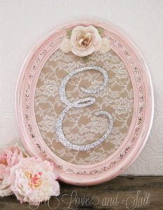 25 Shabby Chic Nursery Letters