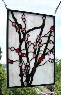Cherry Blossoms12 x 17Stained Glass Window by StainedGlassArtist, $245.00