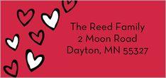 Sweet Little Hearts Address Label