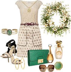 """""""A Little Touch Of Green For Spring"""" by sherryvl on Polyvore"""