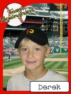Kick Off Your Year with a TEAMWORK Theme and make your own baseball cards.
