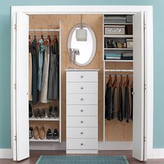 guest room ideas- Include a Mirror  If your closet is also your dressing area, make it more functional by hanging a large mirror on the wall behind a dresser. Or consider hanging a floor-length mirror on a door.