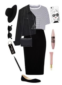 """""""Untitled #183"""" by arwa-ashraf-1 on Polyvore featuring River Island, T By Alexander Wang, Nine West, Cuero&Mør, Off-White, Various Projects, Casetify, AERIN, Maybelline and MAC Cosmetics"""