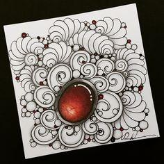 Rebecca-secretbox — Zentangle Please come to visit my FB fan. Easy Zentangle, Zentangle Drawings, Zentangle Patterns, Zentangles, Zen Doodle, Doodle Art, Embroidery Neck Designs, Zen Art, Pattern Drawing