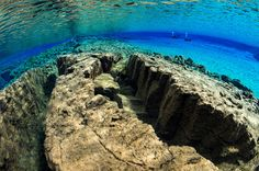 The Silfra fissure is a deep, watery crack that separates the North American and Eurasian continents