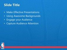 Free NBA PPT Template for Sport Presentations