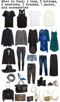 A packing list for Rome, Italy. 15 pieces plus accessories to mix and match and fit in a carry-on. Packing Light and Travel Light via livesara.com #packinglight #travellight