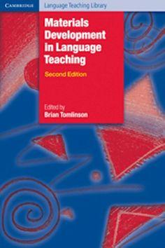 Materials development in language teaching / edited by Brian Tomlinson