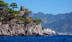 One of the many watchtowers lining the Amalfi Coast