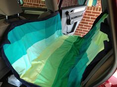 the bird and the bicycle: Sewing tutorial: Dog Car Seat Cover. Uses two beach towels and a sheet for the fabric.