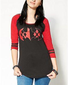 Harley Quinn 3/4 Sleeve Raglan Tee - Spencer's