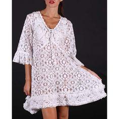 blank Ibiza Style, Ibiza Fashion, Tunic Tops, Lace, Casual, Women, Headscarves, Racing, Woman