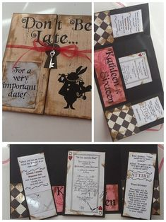 DIY Alice in wonderland party invitations