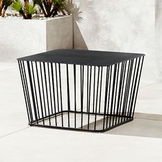 On sale. Retro lives modern in this wire cage coffee table design from the bright minds at Berlin-based design studio Hettler. Wire Coffee Table, Wire Side Table, Outdoor Coffee Tables, Coffee Table Design, Modern Coffee Tables, Patio Furniture For Sale, Repurposed Furniture, Cool Furniture, Painted Furniture