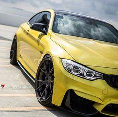BMW F82 M4 yellow Luxury Car Brands, Luxury Cars, New Supercars, Bavarian Motor Works, Bmw Love, Yellow Car, Gt Cars, City Car, Bmw M4
