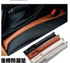 SASAMALL PU Leather Car Seat Catcher Car OrganizerCar Seat Gap Filler 2 Pcs a Set Black *** Read more reviews of the product by visiting the link on the image.