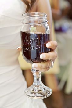 A must-have for us! Redneck wine glasses =D