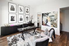 Чёрно-белый дизайн домашнего офиса: коллекция фотографий в рамках