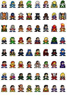 Heroic 64 DC Comics Pixel Art