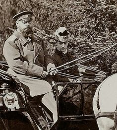 """Tsar Alexander lll of Russia with the Empress Marie Feodorovna of Russia. """"AL"""""""